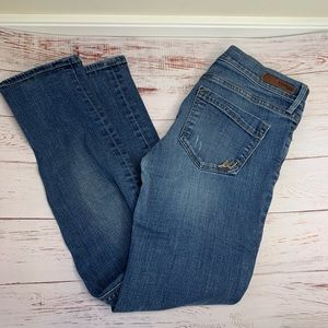 Express skinny mid rise stretch jeans